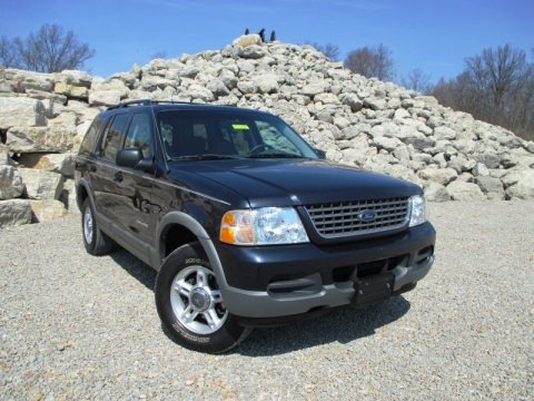 Medium Wedgewood Blue Metallic 2002 Ford Explorer XLT 4x4
