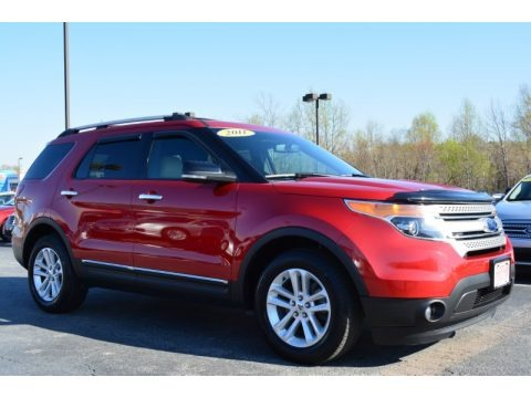 Red Candy Metallic 2011 Ford Explorer XLT