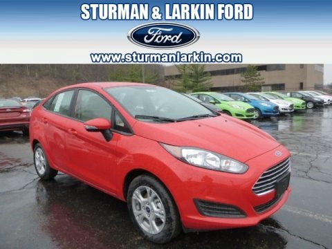Race Red 2014 Ford Fiesta SE Sedan