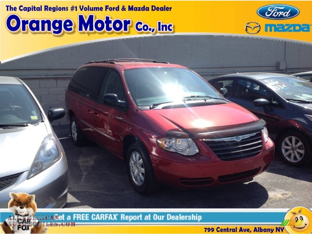 2006 chrysler town country touring in inferno red pearl for Orange motors albany new york