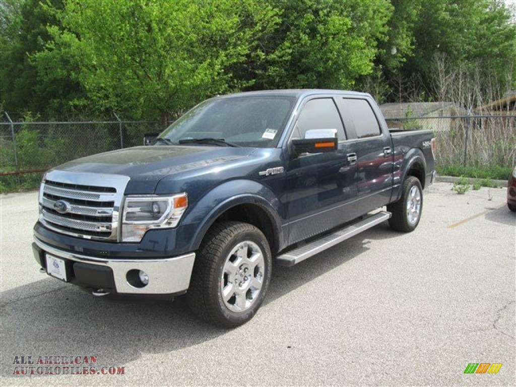 2014 Ford F150 Lariat Supercrew 4x4 In Blue Jeans D72664