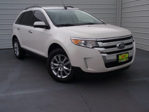White Platinum Tri-Coat 2011 Ford Edge SEL