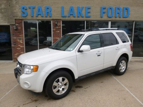 White Suede 2012 Ford Escape Limited V6 4WD