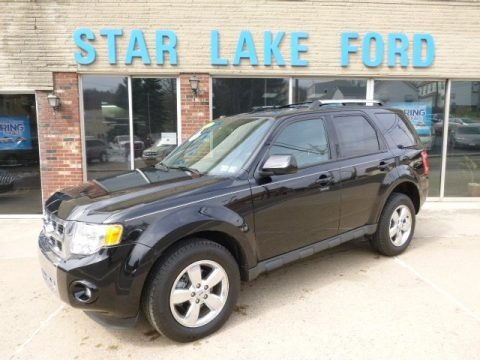 Ebony Black 2012 Ford Escape Limited V6 4WD