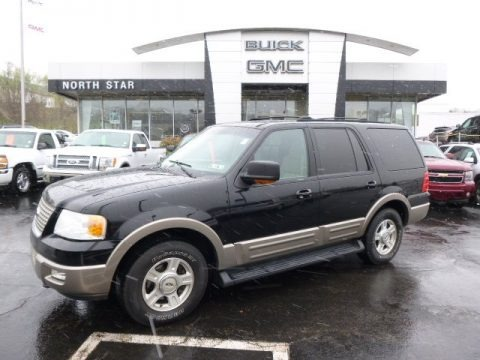 Black Clearcoat 2003 Ford Expedition Eddie Bauer 4x4