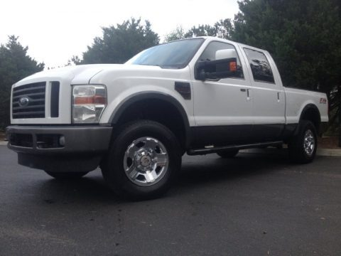 Oxford White 2008 Ford F250 Super Duty FX4 Crew Cab 4x4