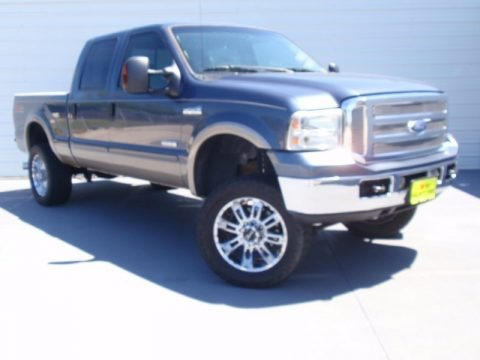 Medium Wedgewood Blue Metallic 2006 Ford F250 Super Duty Lariat Crew Cab 4x4