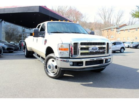 Oxford White 2008 Ford F350 Super Duty XLT Crew Cab 4x4 Dually