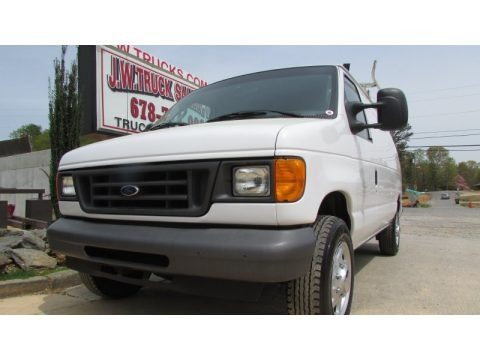 Oxford White 2007 Ford E Series Van E250 Commercial
