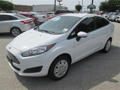 Oxford White 2014 Ford Fiesta S Sedan