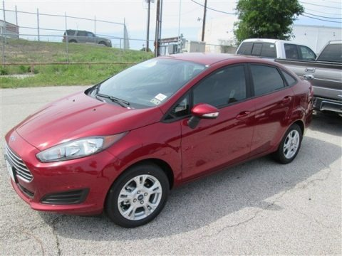 Ruby Red 2014 Ford Fiesta SE Sedan