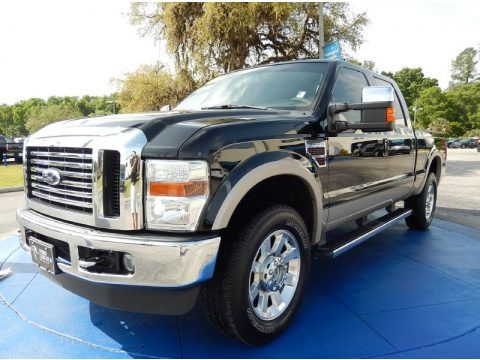 Black 2010 Ford F250 Super Duty Lariat Crew Cab 4x4