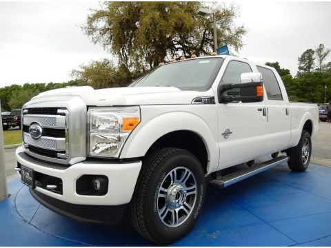 White Platinum 2015 Ford F250 Super Duty Platinum Crew Cab 4x4