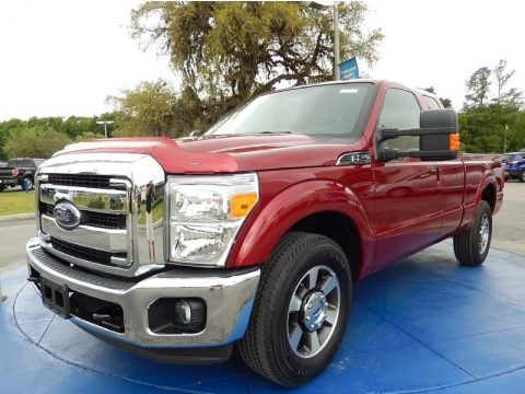 Ruby Red 2015 Ford F250 Super Duty Lariat Super Cab