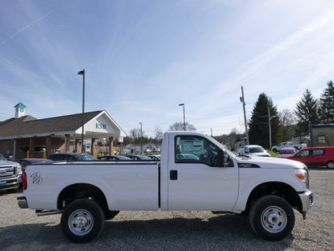 Oxford White 2015 Ford F250 Super Duty XL Regular Cab 4x4