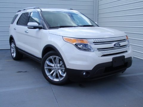 White Platinum 2014 Ford Explorer Limited