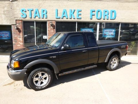 Black Clearcoat 2002 Ford Ranger XLT SuperCab 4x4