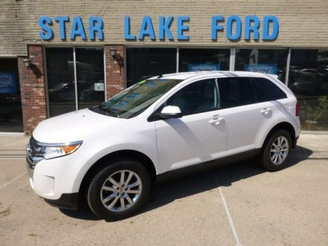 White Platinum Metallic Tri-Coat 2012 Ford Edge SEL AWD