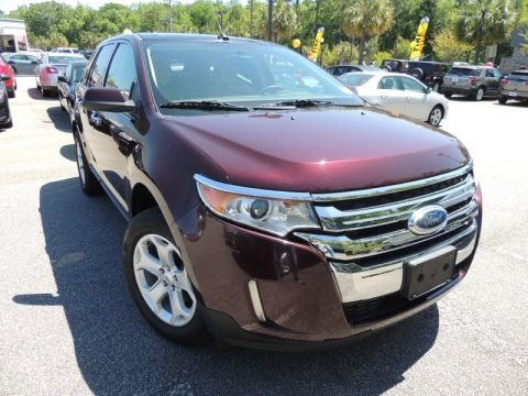 Bordeaux Reserve Red Metallic 2011 Ford Edge SEL