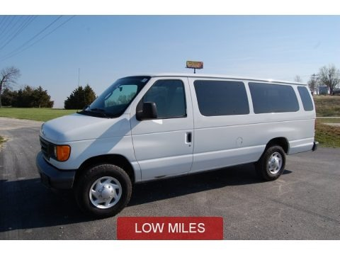 Oxford White 2007 Ford E Series Van E350 Super Duty XL 15 Passenger