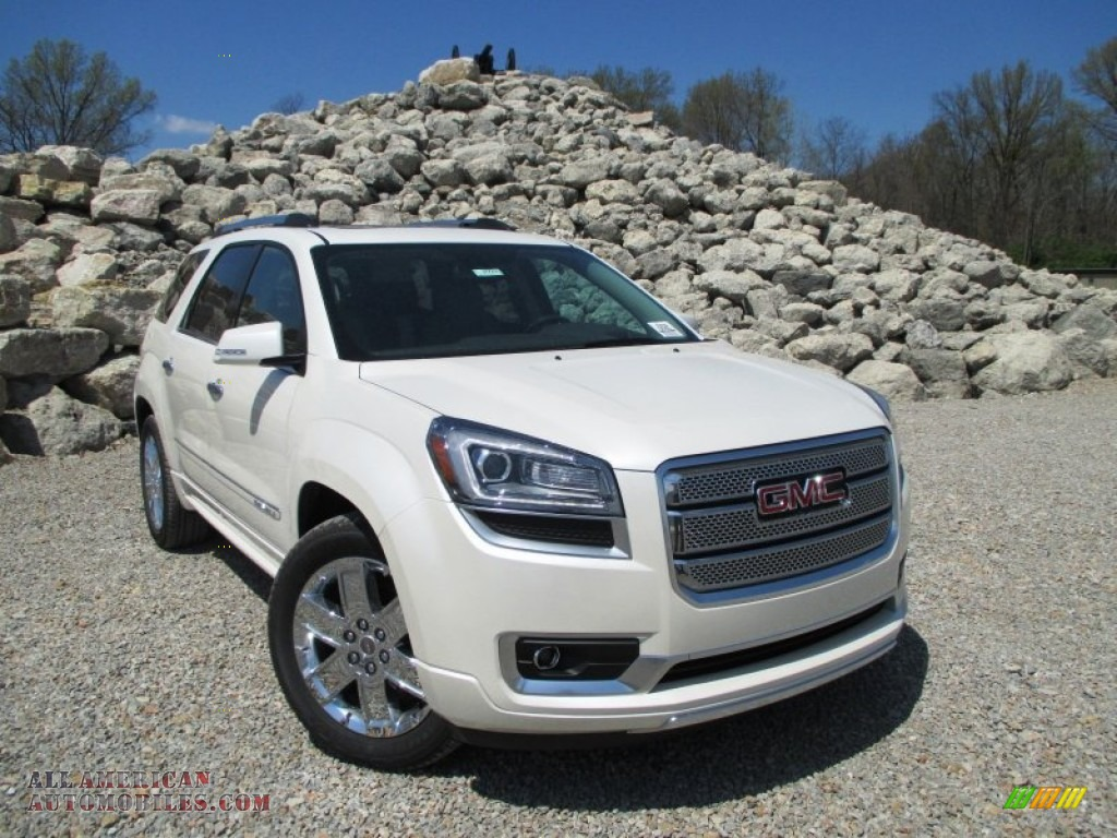 2014 gmc acadia denali awd in white diamond tricoat 340740 all american automobiles buy. Black Bedroom Furniture Sets. Home Design Ideas