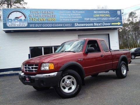 Toreador Red Metallic 2002 Ford Ranger XLT SuperCab 4x4