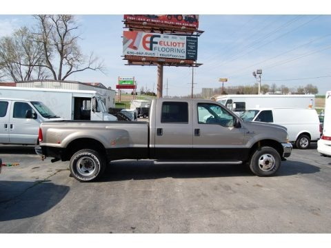 Arizona Beige Metallic 2004 Ford F350 Super Duty Lariat Crew Cab 4x4 Dually