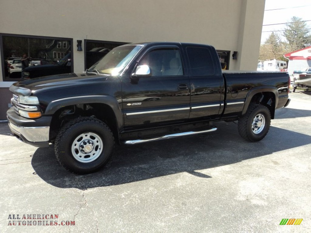 2000 chevrolet silverado 2500 ls extended cab 4x4 in onyx black 337422 all american. Black Bedroom Furniture Sets. Home Design Ideas