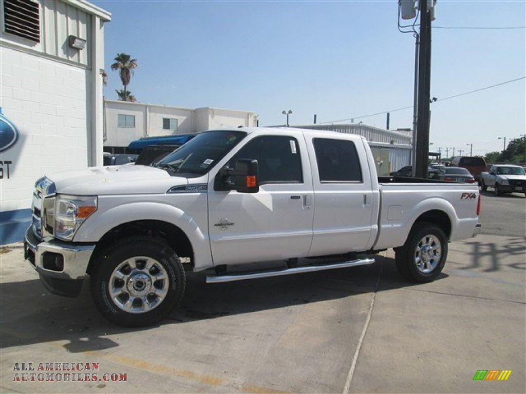 2015 ford f250 super duty lariat crew cab 4x4 in white platinum a09649 all american. Black Bedroom Furniture Sets. Home Design Ideas
