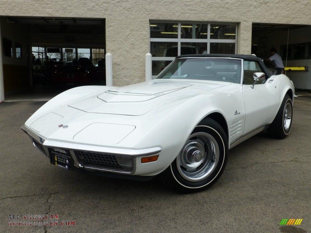 1971 corvette stingray convertible classic white black photo 1. Cars Review. Best American Auto & Cars Review