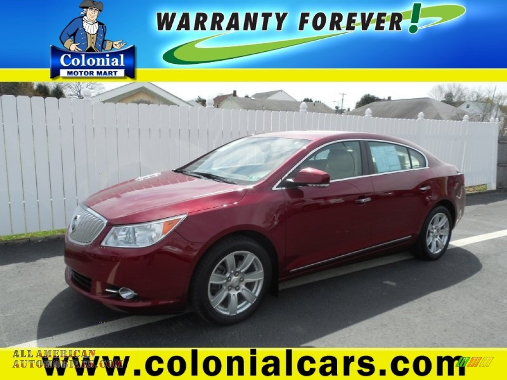 2011 buick lacrosse cxl in red jewel tintcoat 263684 for Colonial motors indiana pa