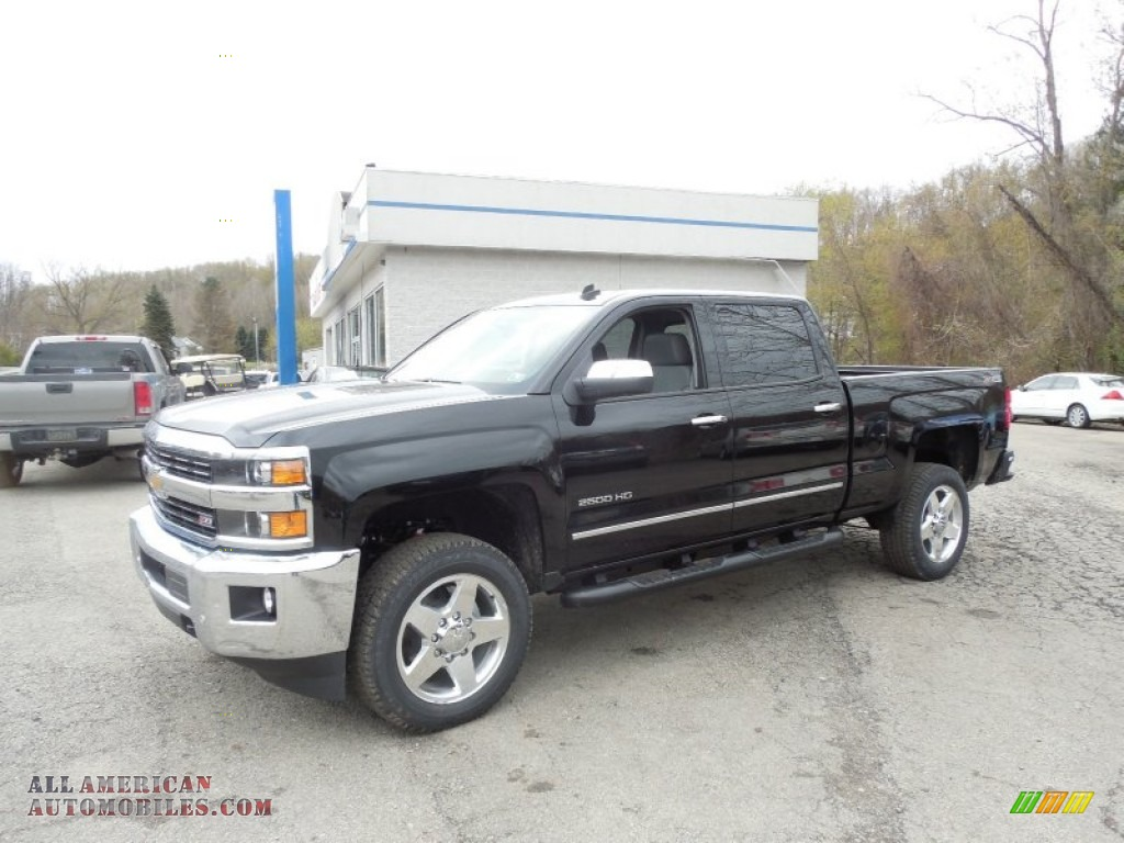 2015 chevrolet silverado 2500hd ltz crew cab 4x4 in black 129279 all american automobiles. Black Bedroom Furniture Sets. Home Design Ideas