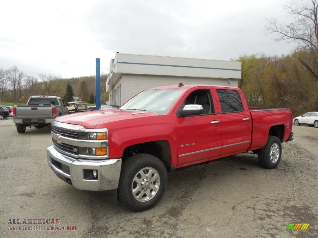 2015 chevrolet silverado 2500hd ltz crew cab 4x4 in victory red 129658 all american. Black Bedroom Furniture Sets. Home Design Ideas