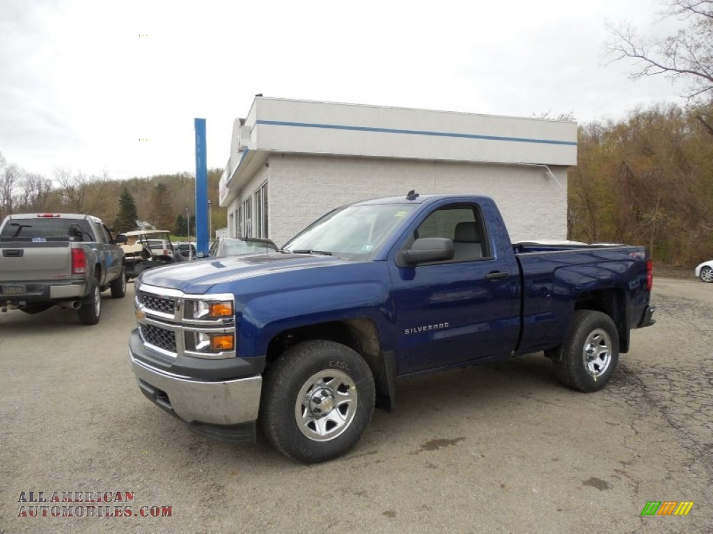 2014 chevrolet silverado 1500 wt regular cab 4x4 in blue topaz metallic 318591 all american. Black Bedroom Furniture Sets. Home Design Ideas