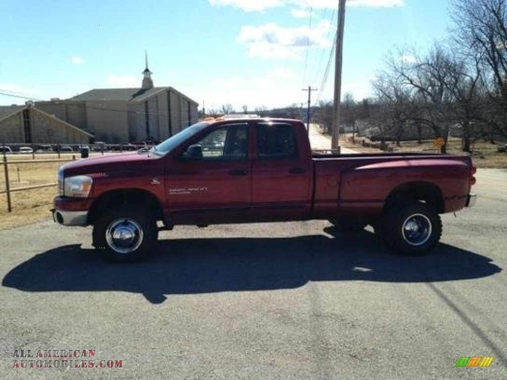 2006 dodge ram 3500 slt quad cab 4x4 dually in flame red 145632 all american automobiles. Black Bedroom Furniture Sets. Home Design Ideas