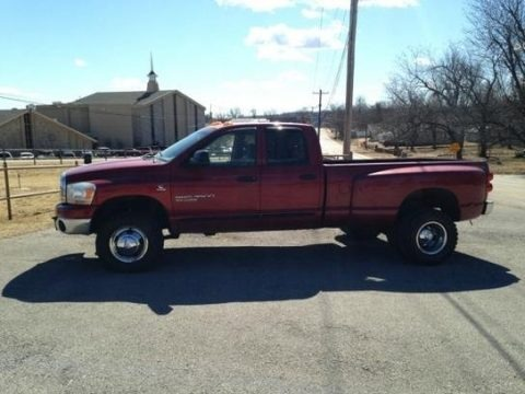 Flame Red 2006 Dodge Ram 3500 SLT Quad Cab 4x4 Dually