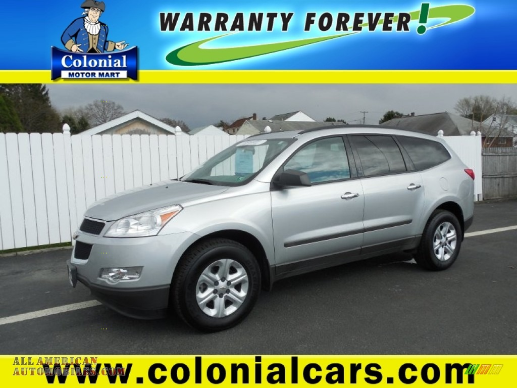 2011 chevrolet traverse ls awd in silver ice metallic for Colonial motors indiana pa