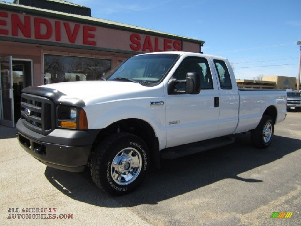 2006 ford f250 super duty xl supercab 4x4 in oxford white d83695 all american automobiles. Black Bedroom Furniture Sets. Home Design Ideas