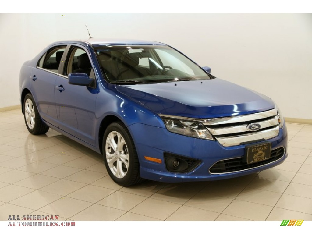 2012 ford fusion se in blue flame metallic 117917 all american automobiles buy american. Black Bedroom Furniture Sets. Home Design Ideas