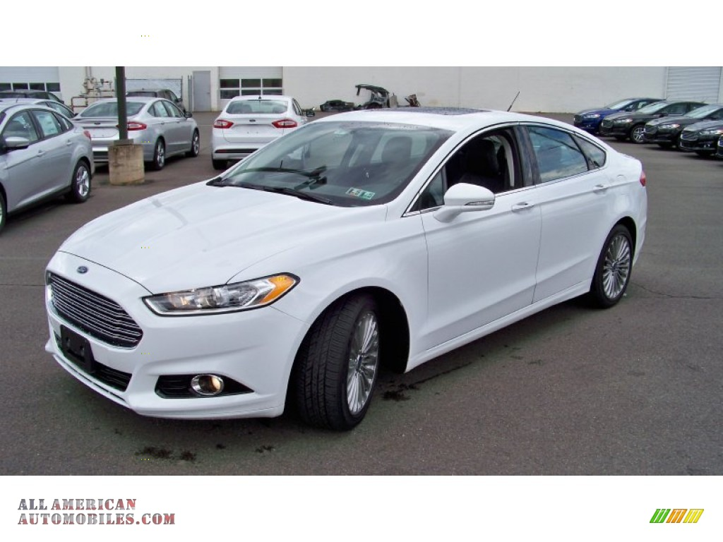 2014 ford fusion titanium in white platinum 130702 all american automobiles buy american. Black Bedroom Furniture Sets. Home Design Ideas