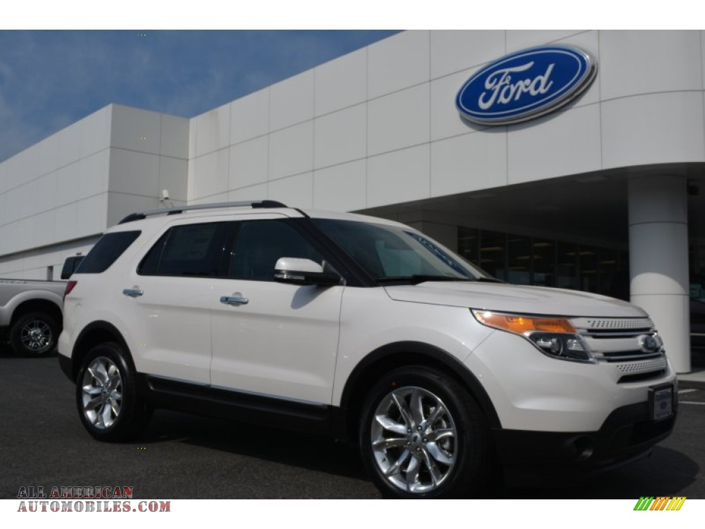 2014 ford explorer limited in white platinum c10006 all american automobiles buy american. Black Bedroom Furniture Sets. Home Design Ideas