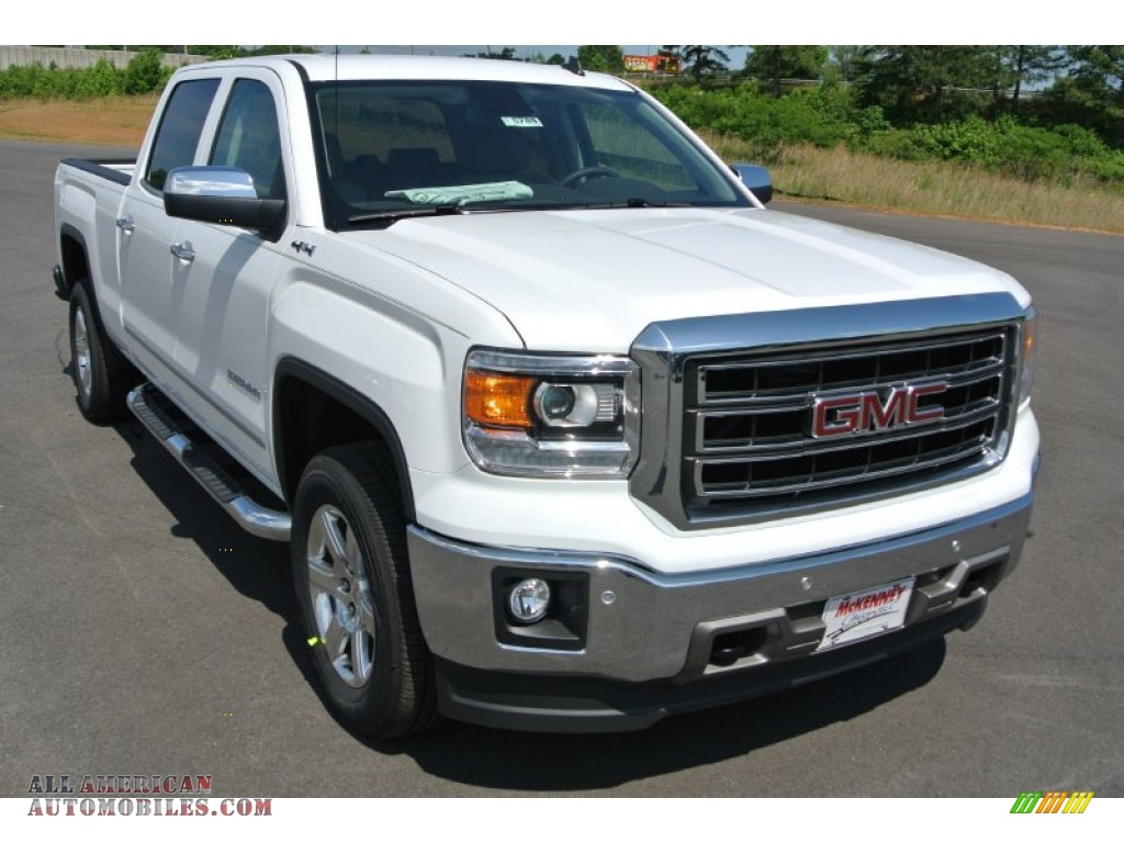 2014 gmc sierra 1500 slt crew cab 4x4 in summit white 440134 all american automobiles buy. Black Bedroom Furniture Sets. Home Design Ideas