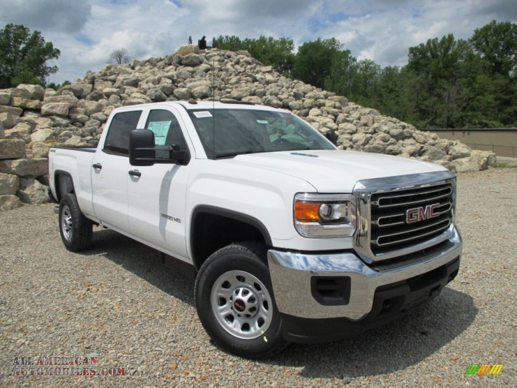 2015 gmc sierra 2500hd crew cab 4x4 in summit white 135195 all american automobiles buy. Black Bedroom Furniture Sets. Home Design Ideas