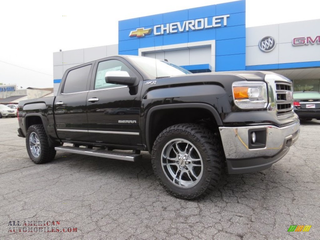 2014 gmc sierra 1500 slt crew cab 4x4 in onyx black 432828 all american automobiles buy. Black Bedroom Furniture Sets. Home Design Ideas