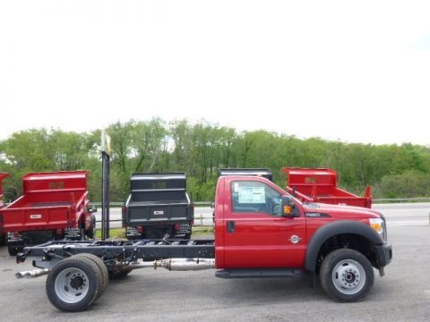 Vermillion Red 2015 Ford F550 Super Duty XL Regular Cab 4x4 Chassis