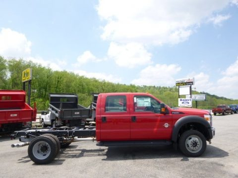 Vermillion Red 2015 Ford F550 Super Duty XL Crew Cab 4x4 Chassis