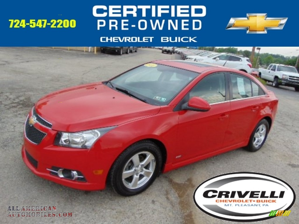 2012 Chevrolet Cruze Lt Rs In Victory Red 180735 All