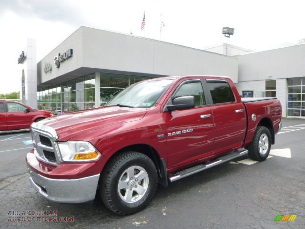 2011 dodge ram 1500 slt crew cab 4x4 in deep cherry red crystal pearl 542287 all american. Black Bedroom Furniture Sets. Home Design Ideas