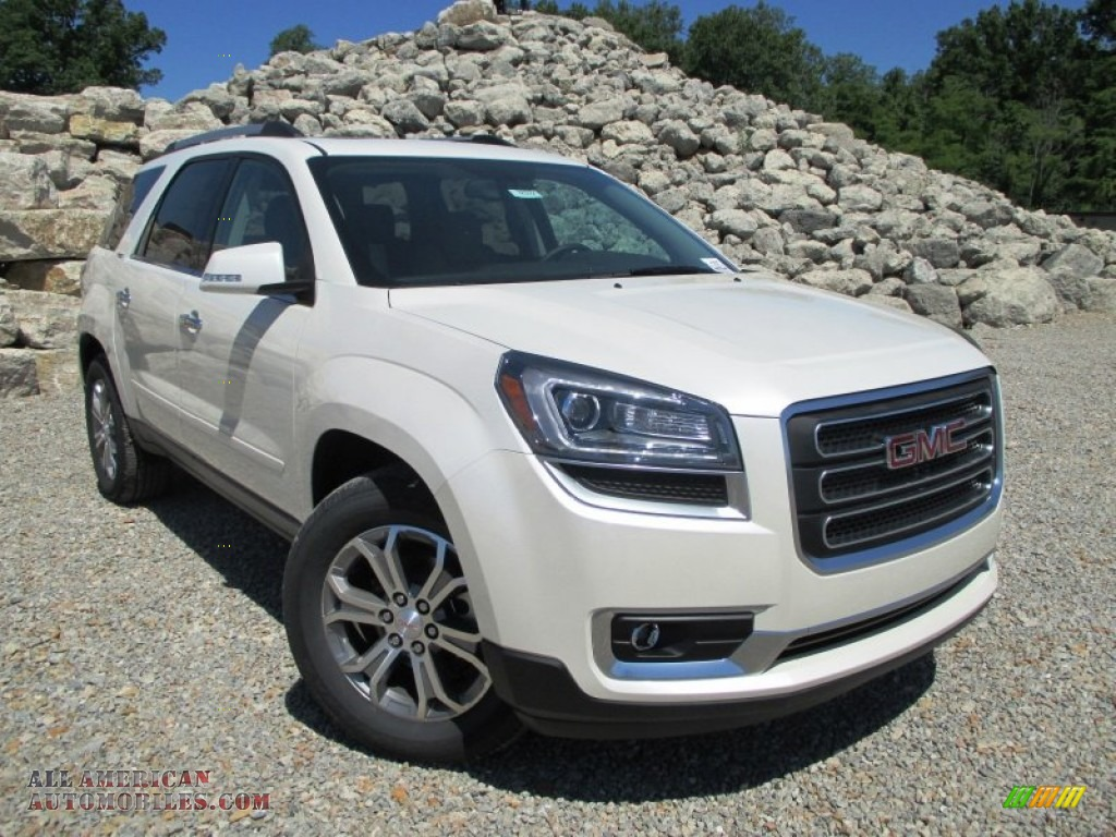 2014 gmc acadia slt in white diamond tricoat 361273 all american automobiles buy american. Black Bedroom Furniture Sets. Home Design Ideas