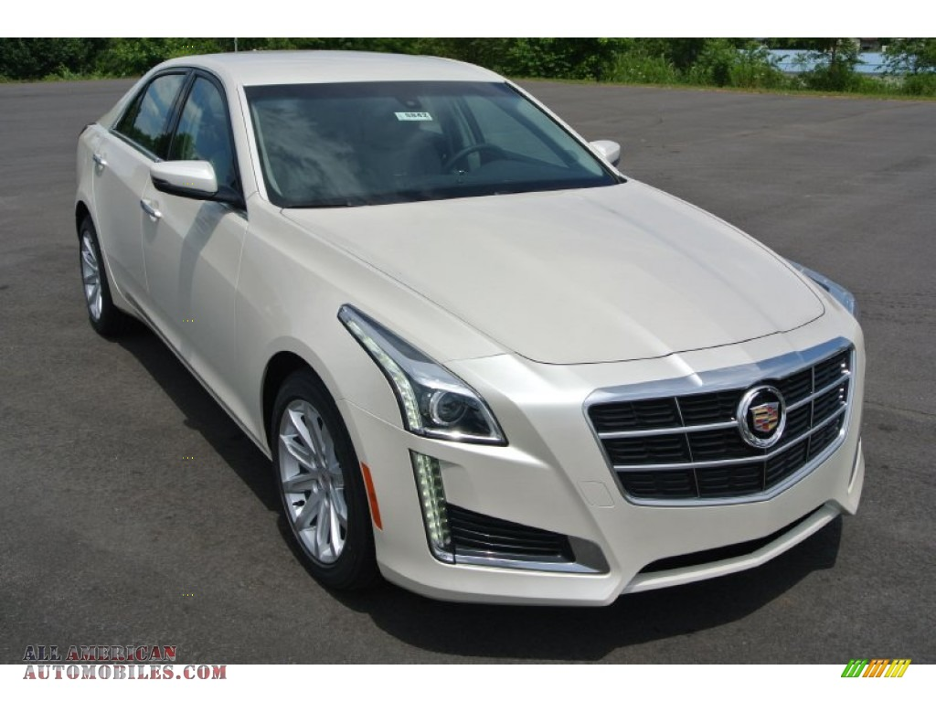2014 cadillac cts sedan in white diamond tricoat 184741 all american automobiles buy. Black Bedroom Furniture Sets. Home Design Ideas